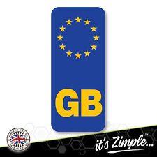 GB NUMBER PLATE STICKER For Motorcycles Motorbike EU European Euro Vinyl Sticker