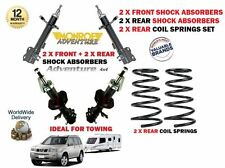 FOR NISSAN  X TRAIL 2001-> 2x FRONT + 2x REAR SHOCK ABSORBER + REAR COIL SPRINGS