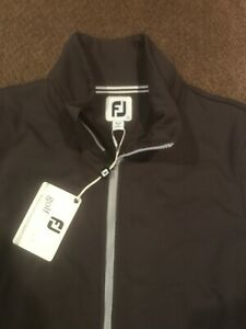 Footjoy Womens Full Zip Quilted Jacket Large Charcoal 135 Dollar Tag