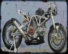 Ducati Tt 1000 1 A4 Metal Sign Motorbike Vintage Aged