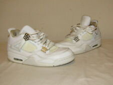 Nike Air Jordan Retro IV 4 Pure Money White Metallic Silver Size 8.5 308497-100