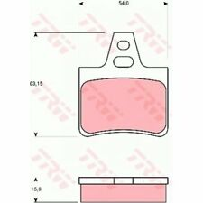 TRW Brake Pad Set, disc brake GDB986
