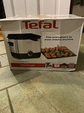 Tefal Mini Deep Fat Fryer Stainless Steel Chip Pan - 0.6KG - 2 Portions - 1000W