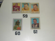 NFL-1959- #13,2#110, 1960-#58, 1961 -#75, 1963 -#42,104RC,2#108RC, 1968-2#27,105