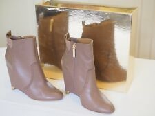 Mimco Lunar Wedge Bootie 'Light Caramel' Leather Size 36 with original box