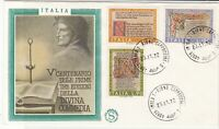 Italy 1972 Centenary of 1st Three Edit. Divine Comedy FDC Stamps Cover ref 22391