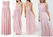 BNWT Lipsy 'Bella' Sweetheart Mesh Multiway Bandeau Maxi Dress UK8 RRP £75