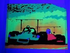Vintage 1970 McLAREN RACE CAR Blacklight MOVIN OUT Poster FLYING DUTCHMAN PRESS