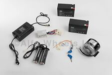 200 W 24 V electric motor kit w Control Throttle Charger Keylock & Batteries