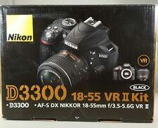 NEW Nikon D3300 24.2MP Digital SLR Camera &18-55mm f/3.5-5.6G VR II Lens Black