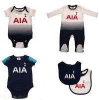 Tottenham Hotspur Baby 2018/19 Kit Design Kit Baby grow Sleepsuit Vest Spurs New