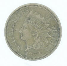 1864 US Mint Indian Head Nickel Copper One Cent Penny XF Condition Coin