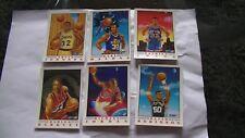 Set complet de cartes neuves de basketball NBA Jordan de 6 cartes!