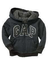 NWT Baby GAP Soft Sherpa Lined Arch Logo Hoodie Sweatshirt Activewear NEW Boy
