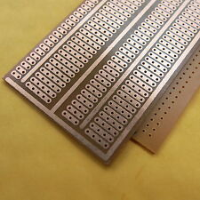 10x pcb 5x9.5cm Streifenraster Veroboard Lochraster Platine Leiterplatte joint