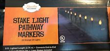 Halloween Stake Lights Pathway Markers 9FT Outside Decor ORANGE