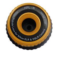 Holga Yellow Pinhole Lens for Nikon D3400 D3300 D500 D7200 D810A D5500 D750 D810