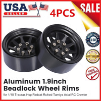 "1/10 1.9"" Beadlock Wheel Rims F/Traxxas Hsp Redcat Hpi RC Crawler Car *4 E0M8"