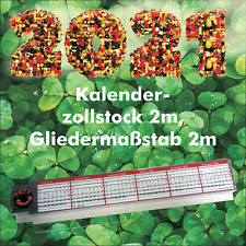 Zollstock 2m zweiseitig bedruckt  Motiv Kalender 2021