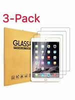 3-Pack Premium Tempered Glass Screen Protector For Apple iPad 2 3 4 Air Mini 1 2