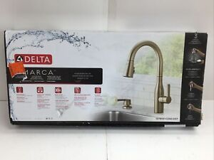 Delta 19780Z-SPSD-DST Marca Pull Down Kitchen Faucet in Champagne Bronze