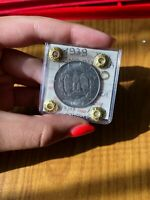 MONETA REGNO D' ITALIA IMPERO 2 LIRE 1939 XVIII sigillata qFDC ANTIMAGNETICA