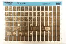 Grundig Service RR 610 CD Radiorekorder Radio Cassette Microfiche 1994 K172