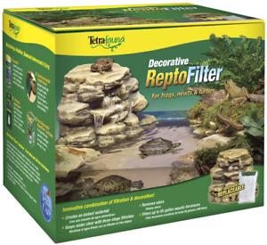 Reptile Tank Filter for 55 Gal Aquarium Turtle Frog Lizard with Decor Waterfall