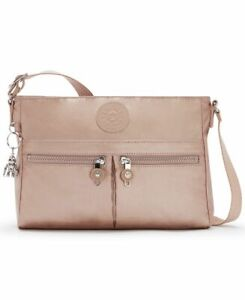 Kipling New Angie Handbag Rose Gold Metallic