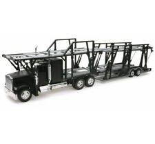 NEW RAY TOYS 1:32 SCALE FREIGHTLINER CLASSIC XL AUTO CAR CARRIER BLACK 10003A