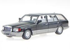 Mercedes W126 500 SEL familiar 1990 negro coche en miniatura 43037020 KESS 1:43