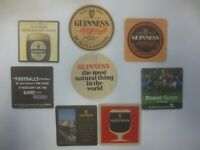 8 different GUINNESS Overseas Breweries collectable BEER  COASTERS GO