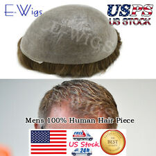 Ultra Thin Skin Toupee Invisible Mens Hair Replacement Poly Hairpiece PU Systems