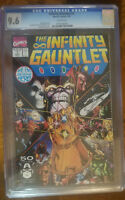 THE INFINTY GAUNTLET 1 CGC 9.6 NM+ NEAR MINT WHITE PAGES
