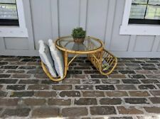 Bamboo Coffee Table Boho Franco Albini Vintage Bentwood Rattan Wicker