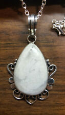 STUNNING NATIVE AMERICAN ORNATE WHITE BUFFALO TURQUOISE NECKLACE