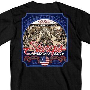 Sturgis Black Hills Rally 2021 Main Street Photo Motorcycle Bike T Shirt SPM1949
