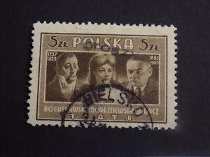 """Polen 1947 Mi.-Nr. 575 A """"GROSZY"""" auf 466 Gestempelt"""