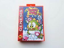 Super Bubble Bobble MD Game Sega Genesis Custom Game / Red Case (USA Seller)
