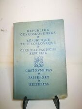Czechoslovkia  1926 Passport With Entry Stamps and Revenue Stamps