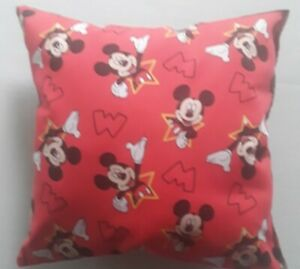 """DISNEY MICKEY MOUSE PILLOW - HANDMADE - 12""""x12"""" - FOR LITTLE HEADS!"""