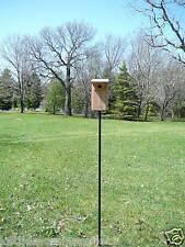 "68"" Tall Bluebird Bird House or Bird Feeder Pole, Mounting Plate, Ground Stake"