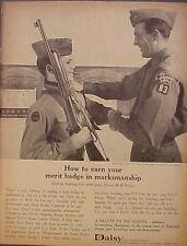 1964 Daisy BB Gun Boy/Cub Scouts Merit Badges Marksmanship Vintage Toy Promo Ad