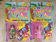 The Wizard of Oz 50th Anniv. Glinda & Scarecrow Wind-up Walkers New on Card 1988
