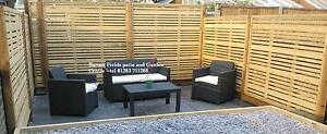 Contemporary Garden Screens, Modern Treated Fence Panels, The Milan 180x180cm