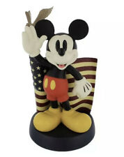 DISNEY MICKEY MOUSE BIG FIG FIGURE MICKEY WITH AMERICAN FLAG WITH EAGLE USA 14""