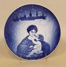1987 Royal Copenhagen B&G Denmark Commemorative Christmas Remembered Plate