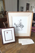 Curtis Wingate Western Art, Pen & Ink, Watercolor & 1 Letter, Signed & Dated