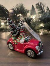 Patricia Breen Joy Ride 2010 Snowman Red Convertible Christmas Ornament
