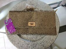 SAC MARIAGE PORTE FEUILLE SACOCHE BANDOULIERE CHAINETTE POCHETTE OR DORE